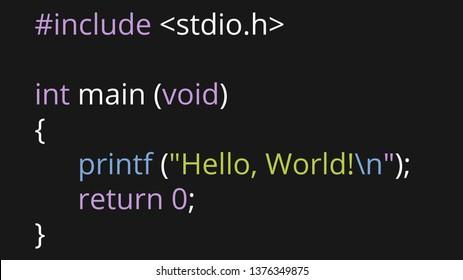 Hello World simple beginner C Program