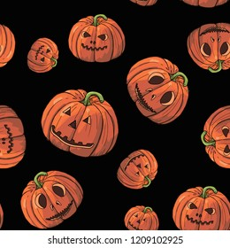 helloween pattern with pumpkings