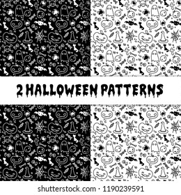helloween pumpkin seamless comic