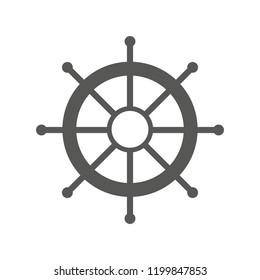 Helm Anchor vector icon logo Nautical maritime sea ocean boat illustration.eps 10.