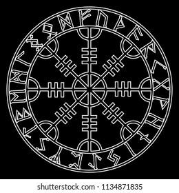230589266 Helm of awe, helm of terror, Icelandic magical staves with scandinavian  runes, Aegishjalmur