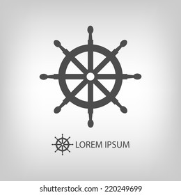 Helm as logo with copyspace in grey colors