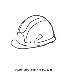 Helmet building icon vector