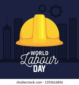 helmet equipment to labour day celebration