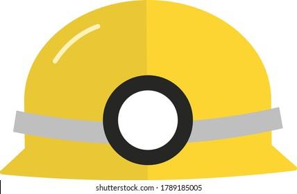 helmet flat illustration vector icon