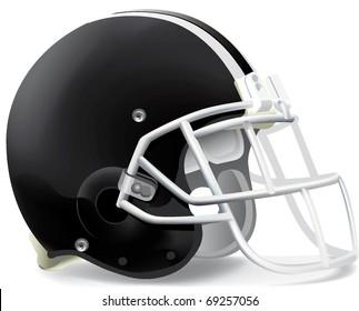 helmet football team black & withe