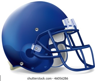 helmet football team blue super