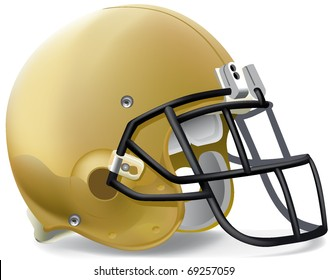 helmet football team gold Black mask