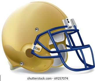 helmet football team Gold & Blue mask