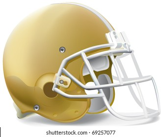 helmet football team Gold & Withe mask