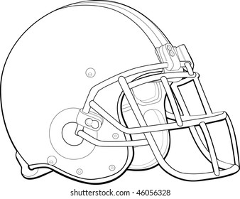 helmet football team outline