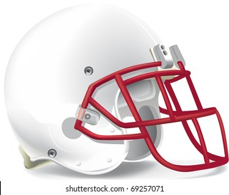 helmet football team withe & red mask