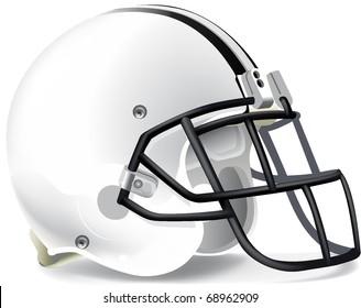 Helmet football withe black mask withe line