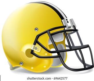 Helmet football yellow & black