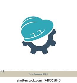 Helmet Gear Vector Logo Template Illustration Design. Vector EPS 10.
