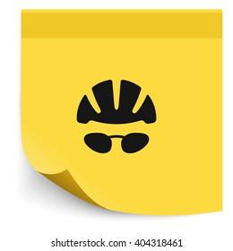 Helmet and glasses icon.