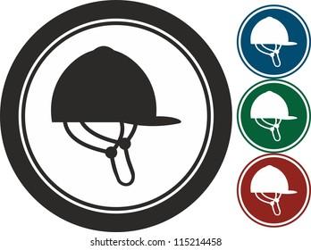 Helmet, Horse riding, vector, icon