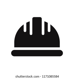 Helmet icon vector. Cap,hat symbol. Flat vector sign isolated on white background. Simple vector illustration for graphic and web design.