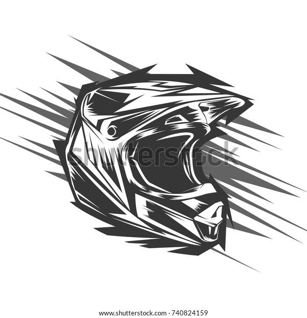 Helmet motocross, motocross design
