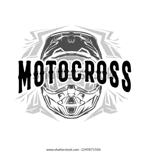 Helmet Motocross, Motocross design for t-shirt
