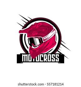 Helmet Motocross Vector Illustration