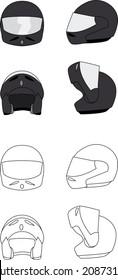 helmet open front