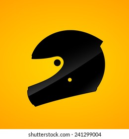 helmet pictogram, motorcycle full face