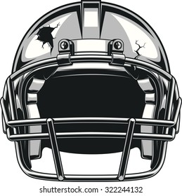 Helmet for playing football