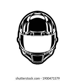 helmet shilhouette vector illustration design