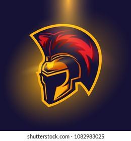 Helmet Spartan Warior Logo Concept