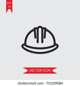 Helmet vector icon, simple construction symbol sign, modern vector illustration for web, mobile design