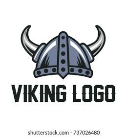 Helmet Viking Logo Template