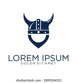 helmet vikings logo designs vector