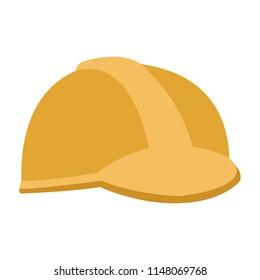 Helmet worker isolated