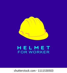 helmet for worker vector design