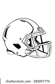 helmets football team helmet outline