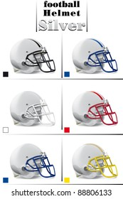helmets football team silver collection