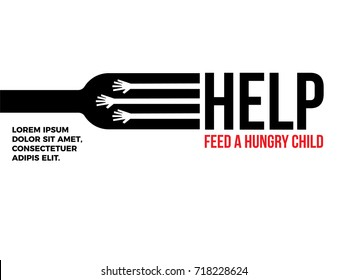 Help Feed a child. Hunger Prevention. Charity Donation.