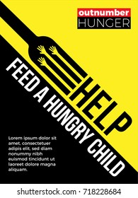 Help Feed a hungry child. Hunger Prevention. Charity Donation.