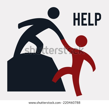 help graphic design vector illustration stock vector royalty free rh shutterstock com helpdesk hs anhalt helpster