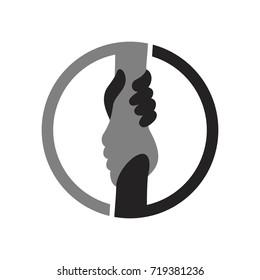help hand vector logo