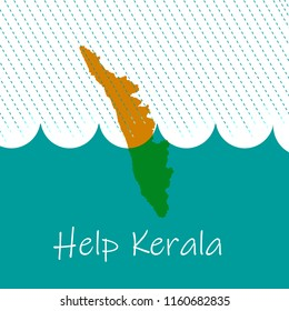Help Kerala, flood, disaster, relief, donation, india, vector, illustration