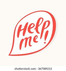 Help me! Text in speech bubble.