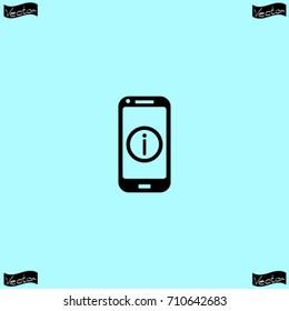 Help phone icon, vector illustration