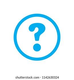 help simple blue vector icon