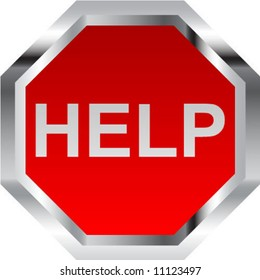 HELP - vector illustration