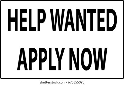 Help wanted apply now.