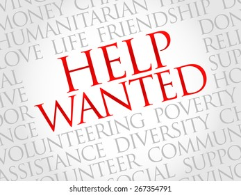 Help Wanted word cloud concept