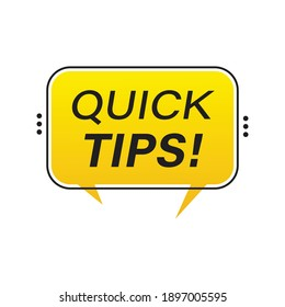 Helpful idea, Quick tips, quick tricks vector label, emblems and banners Tip set isolated. Solution advice badge illustration.