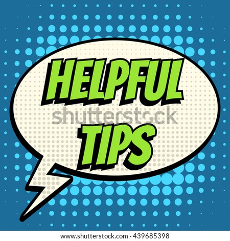 e24f0ed16a Helpful Tips Comic Book Bubble Text Stock Vector (Royalty Free ...